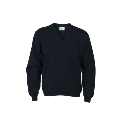 Cotton Pullover with V-neck